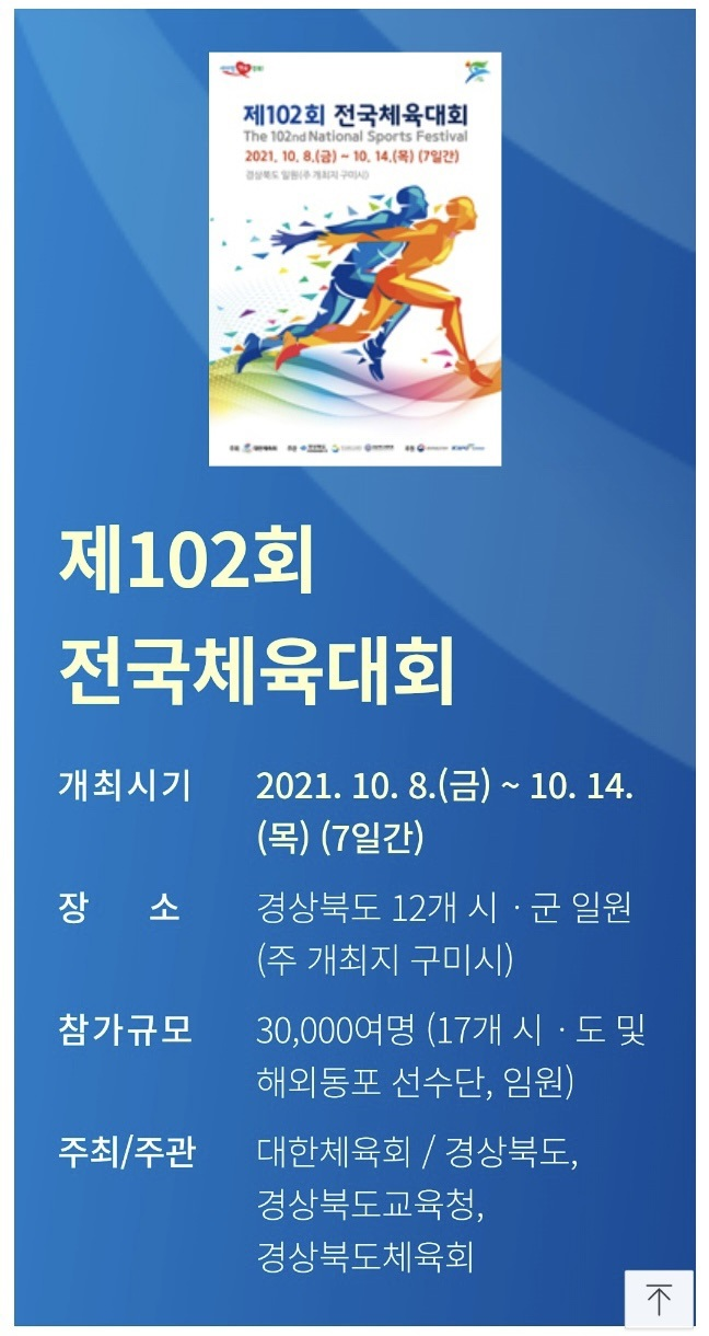 102th Korea Sports Festival 제102회 전국체전